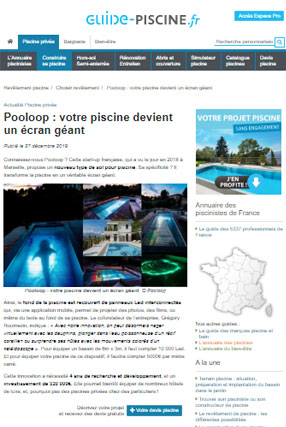 Guide piscine article presse 21h40