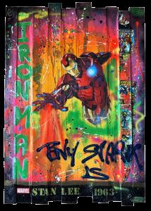 iron man bois 21h40 street art gallerie lumineuse