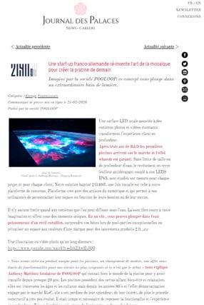 Journal Palace article presse 21h40